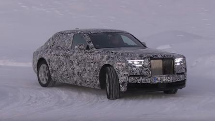 VIDÉO – La nouvelle Rolls-Royce Phantom se dandine sur la neige