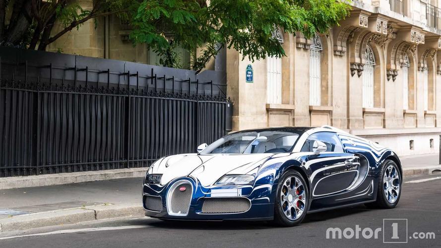 PHOTOS - La Bugatti Veyron Grand Sport L'Or Blanc photographiée à Paris