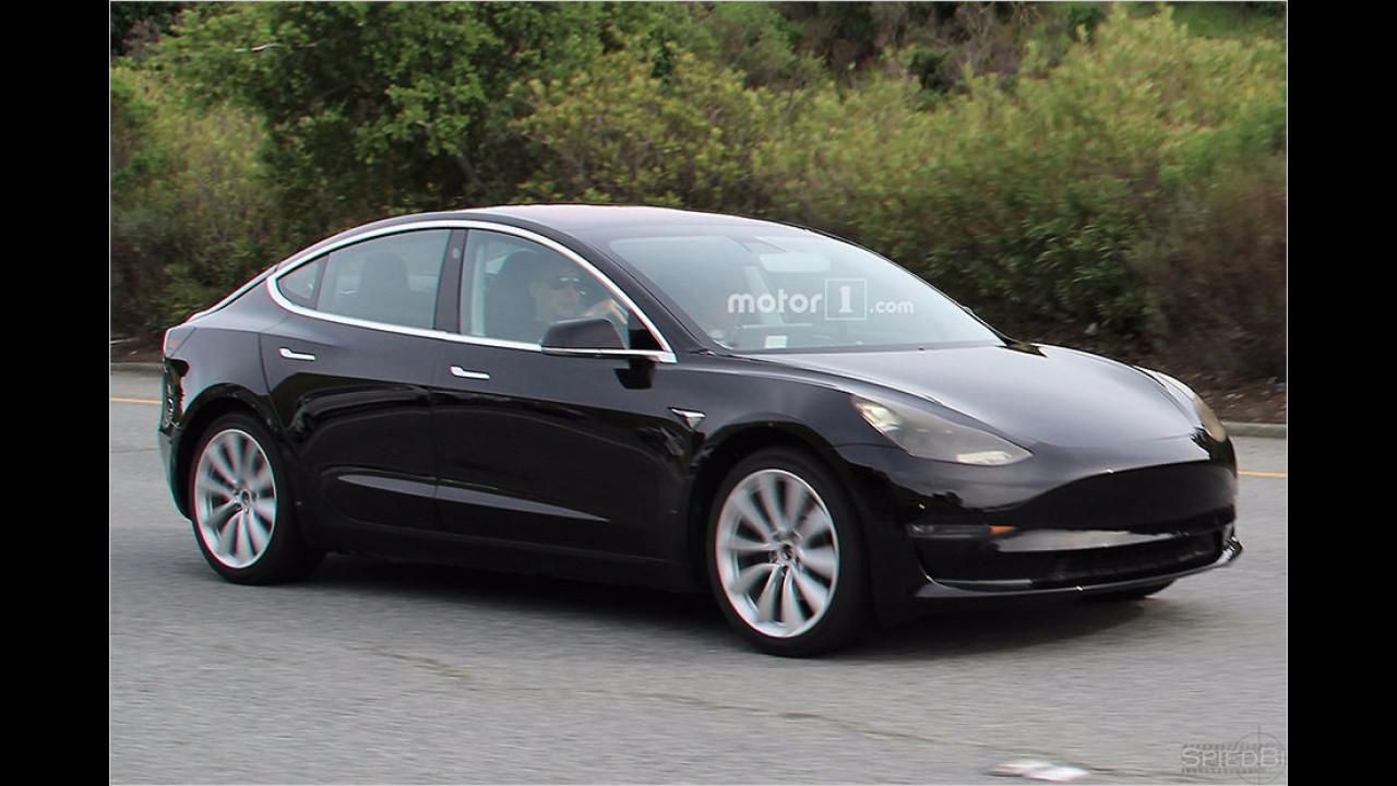 Tesla Model 3 als Erlkönig