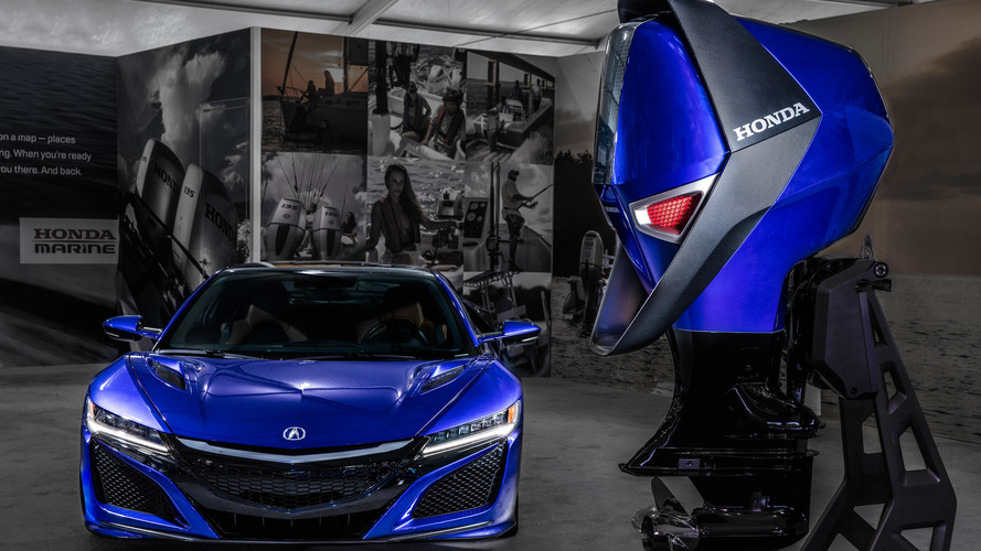 Acura NSX-inspired engine design could hang off your next boat
