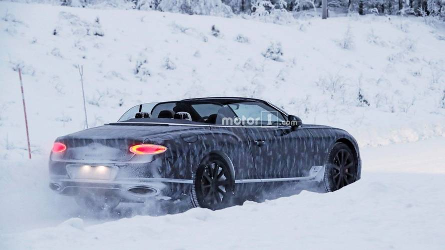 El Bentley Continental GTC 2018 no teme al frío