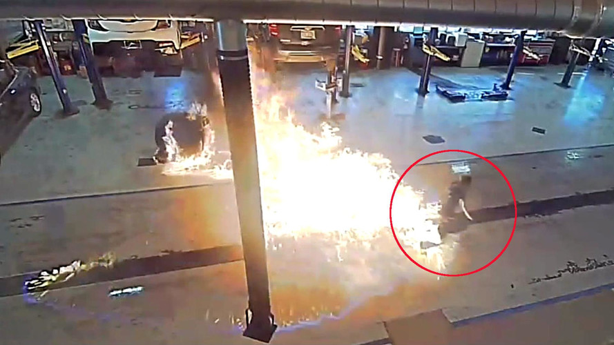 Initial Moments Of Massive Chevy Dealership Fire Caught On Camera