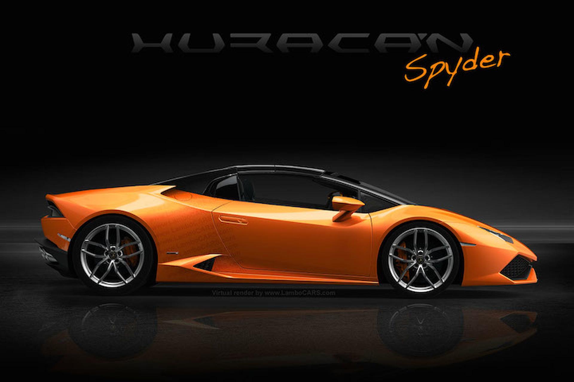 Lamborghini Huracan Goes Topless in New Rendering
