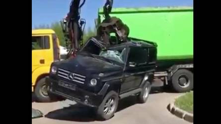 Watch The Sad Moment When A Mercedes G-Class Succumbs