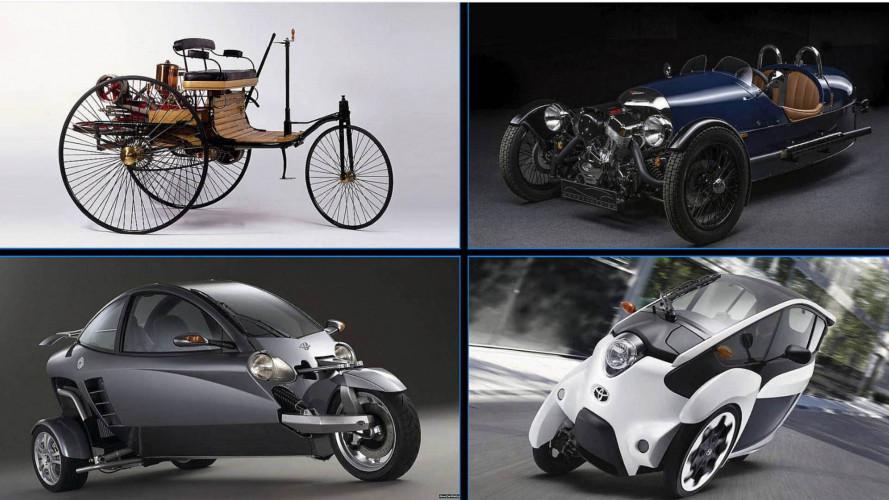 Hier kommen 10 Autos mit drei Rädern