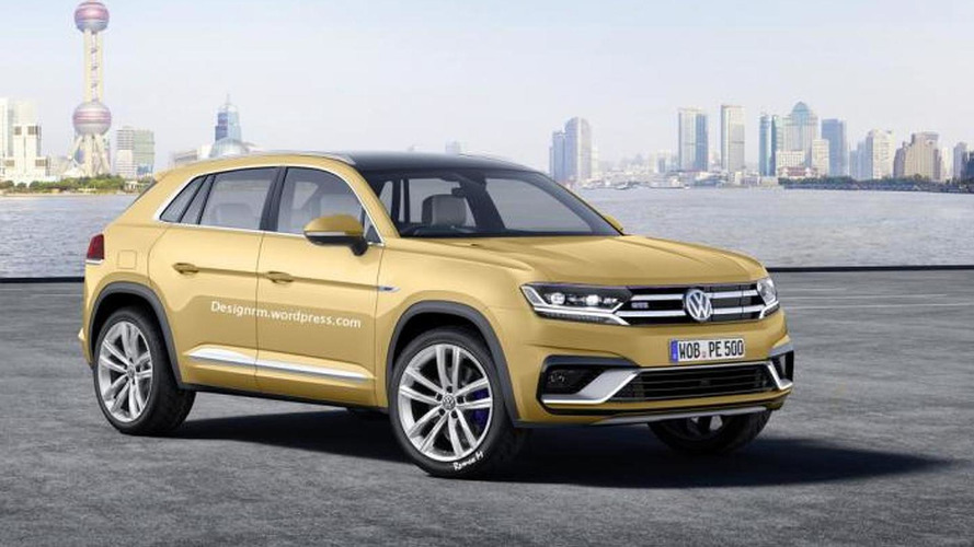 2016 Volkswagen Tiguan rendered with Cross Coupe GTE concept influences
