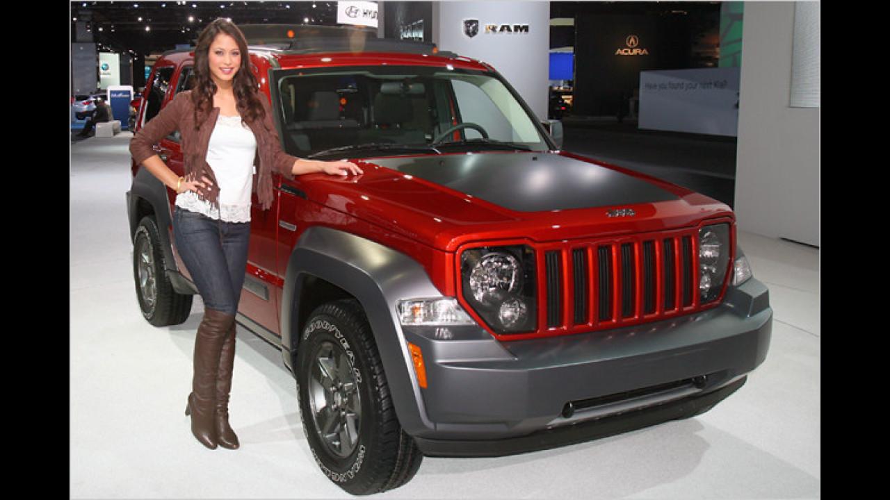 Klassischer Jeep-Auftritt mit Dame - im Jahr 2010