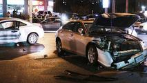 Lincoln Navigator hits 16 cars 28.10.2013