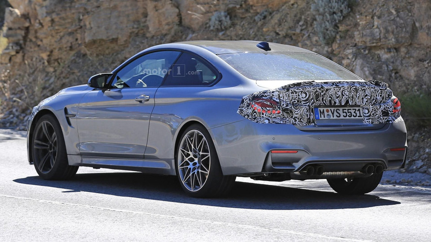 bmw m4 facelift seen with m performance rear spoiler. Black Bedroom Furniture Sets. Home Design Ideas