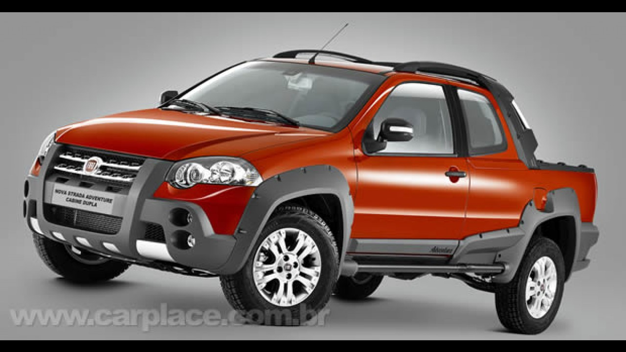 Chega semana que vem: Fiat divulga a 1ª foto oficial da nova Strada Adventure Cabine Dupla