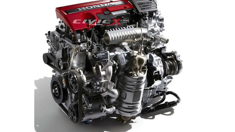 This is Honda's new turbo 2.0-liter engine for hotter Civics