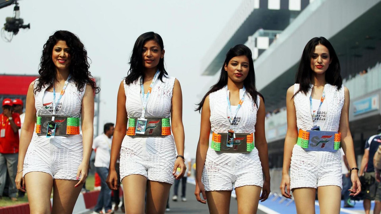 Grid girls, Indian Grand Prix