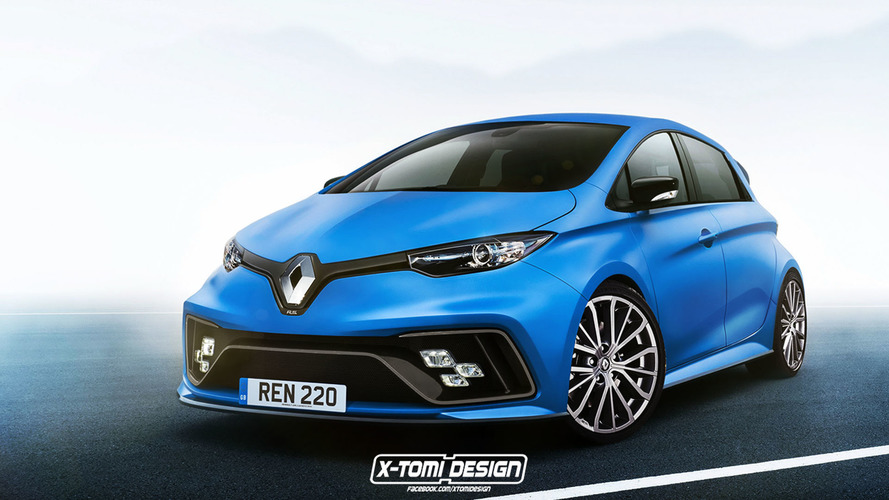 Renault Zoe RS render is less bonkers than the E-Sport Concept
