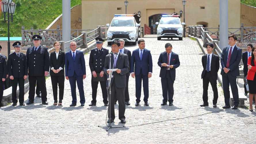 Flotte de Mitsubishi Outlander PHEV pour la Police d'Ukraine