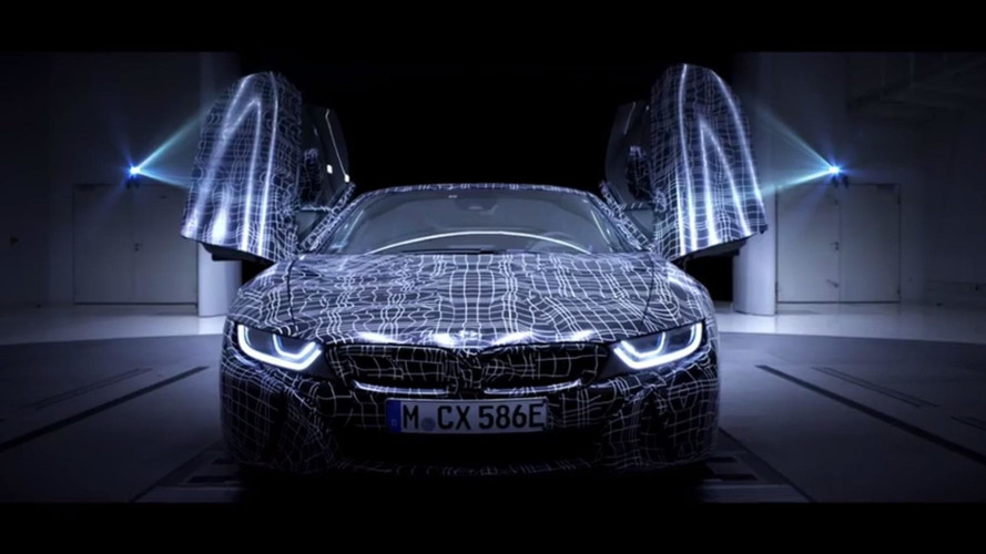 BMW i8 Roadster plug-in hybrid teased in a new teaser video