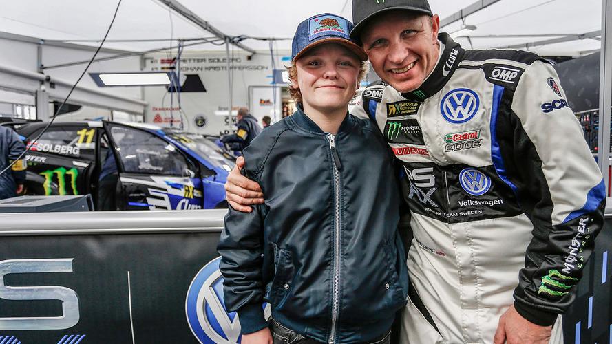 El hijo de Solberg se convertirá en el más joven en pilotar un coche de rallycross