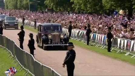 Meghan Markle Uses 1950 Rolls-Royce Phantom IV At Royal Wedding