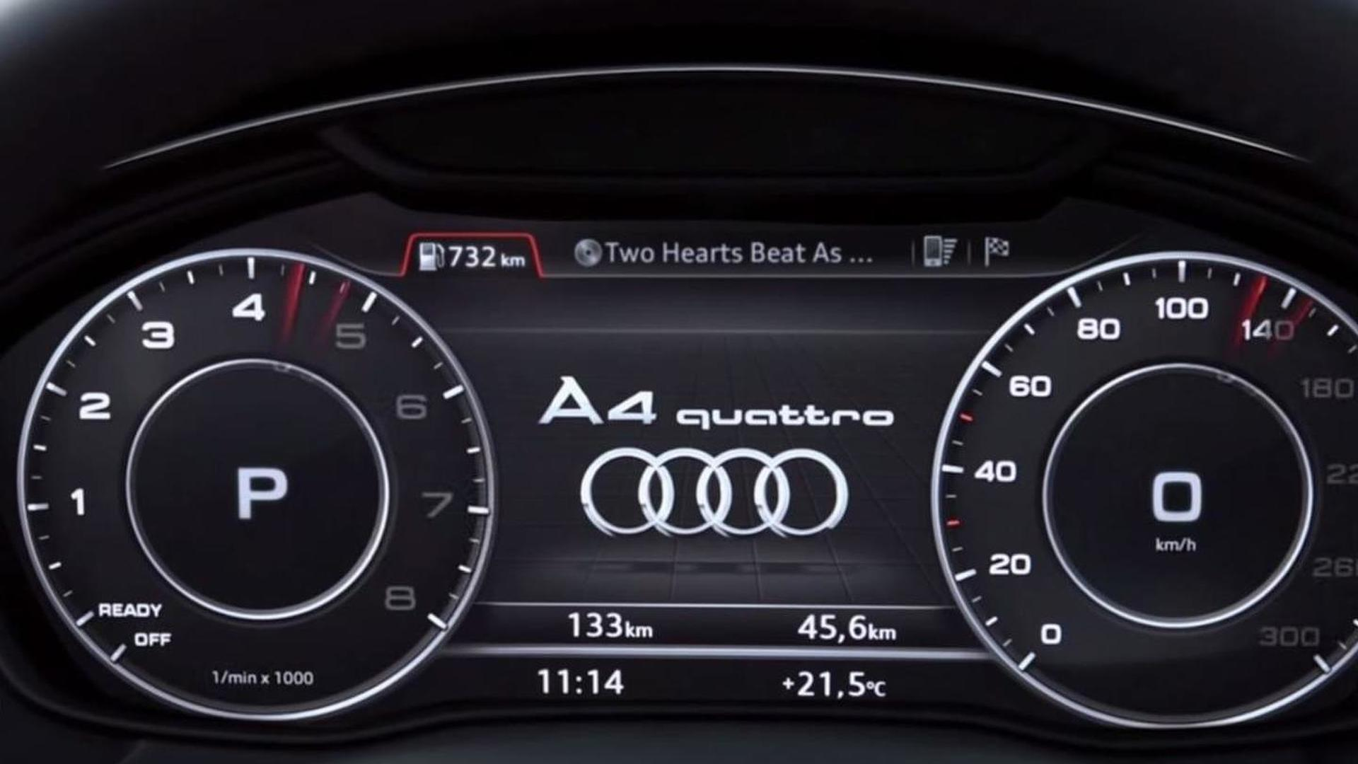 2016 Audi A4 S Virtual Cockpit Demonstrated In New Promo Video