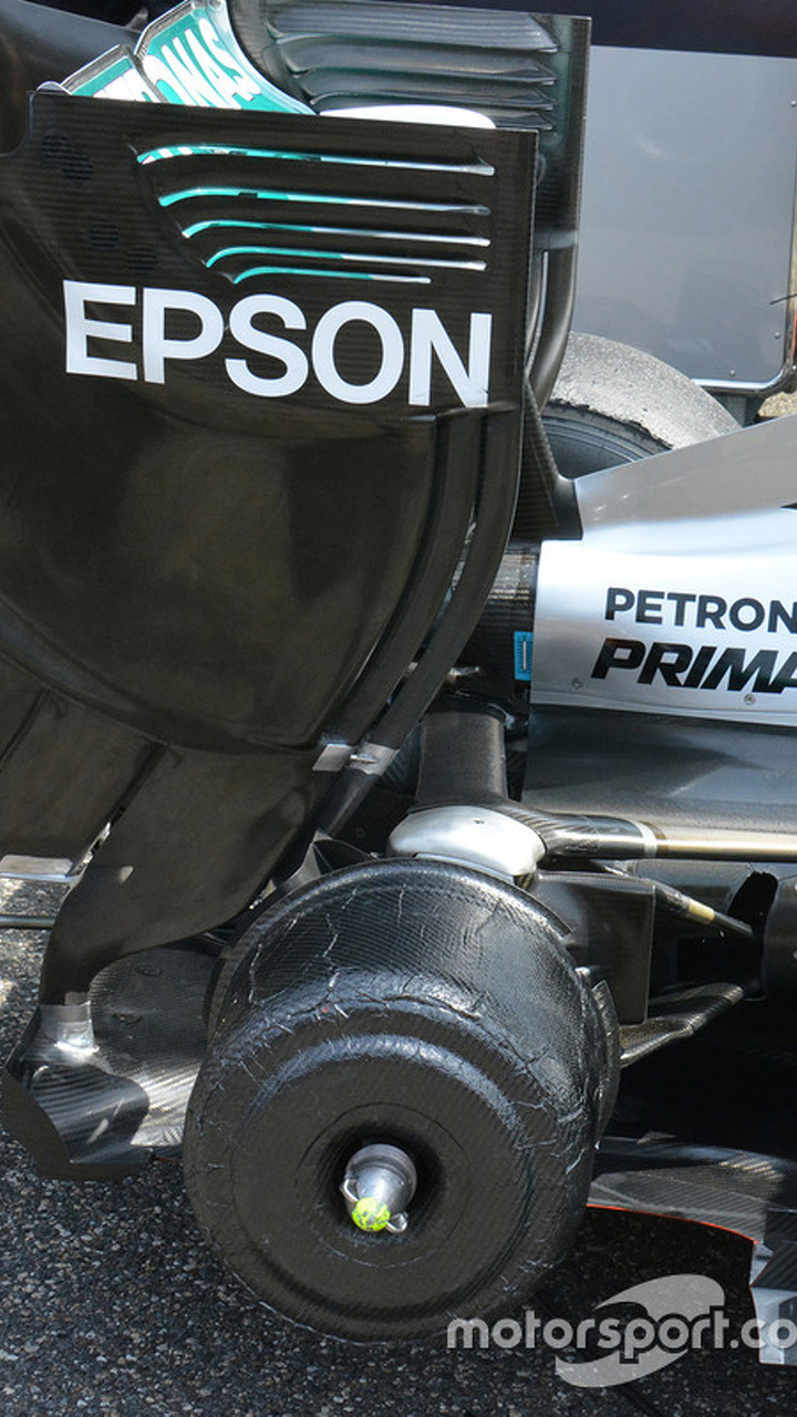 Mercedes AMG F1 Team W07 rear detail