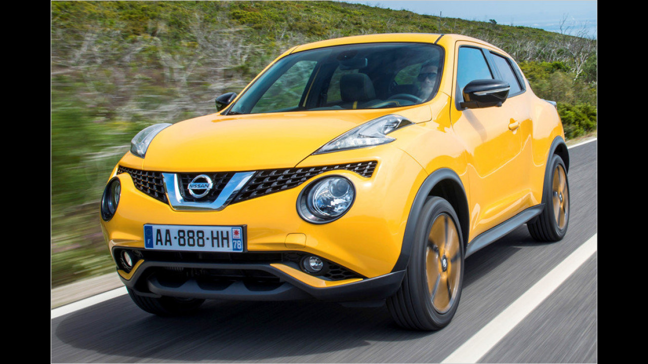 Platz 5: Nissan Juke 1.6 Visia, 94 PS, 15.550 Euro