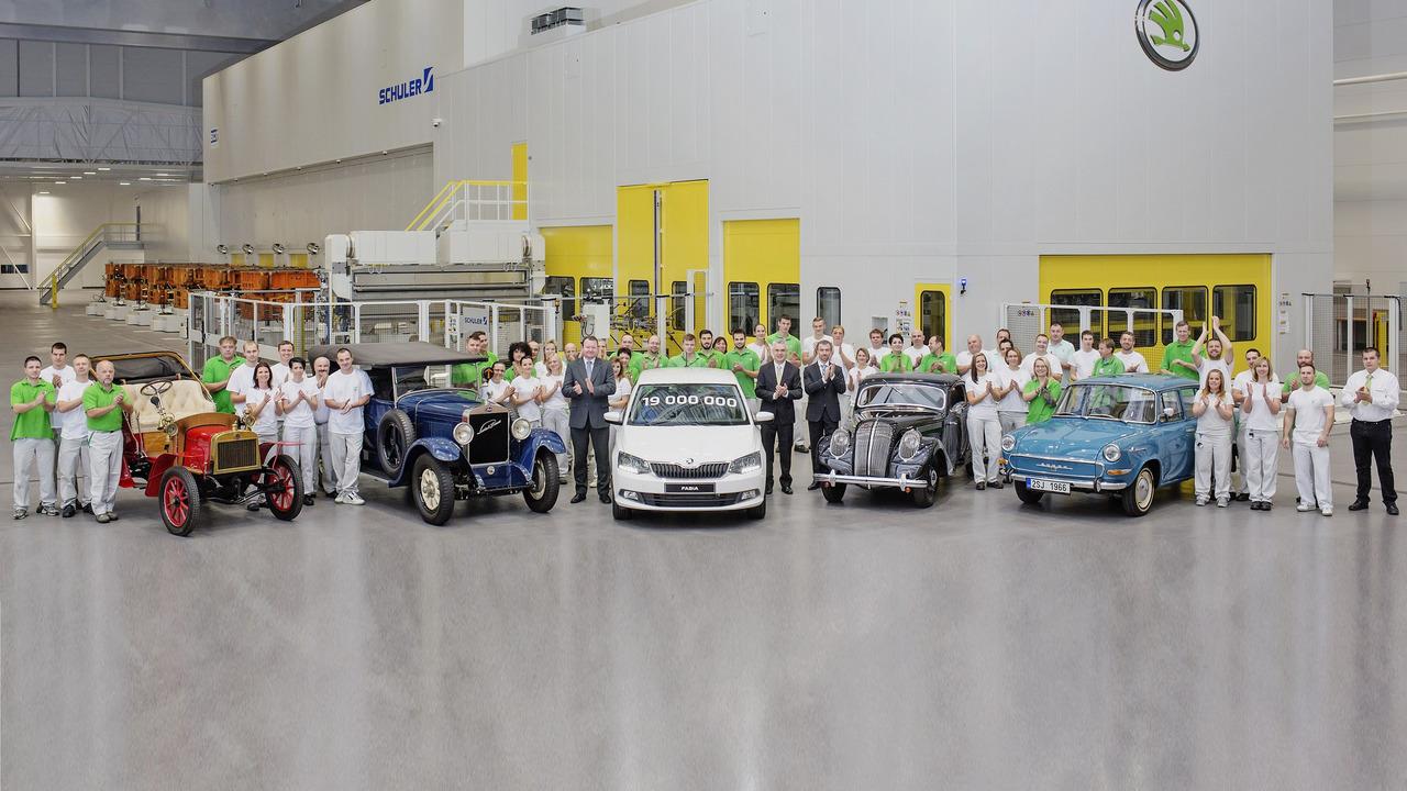 Skoda 19th millionth car