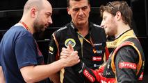 Gerard Lopez with Federico Gastaldi and Romain Grosjean 11.05.2014 Spanish Grand Prix