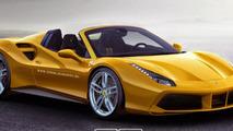 Ferrari 488 GTB Spider rendering / X-Tomi Design