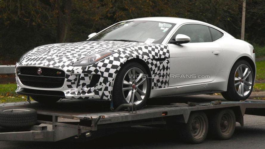 2015 Jaguar F-Type AWD spied on a trailer