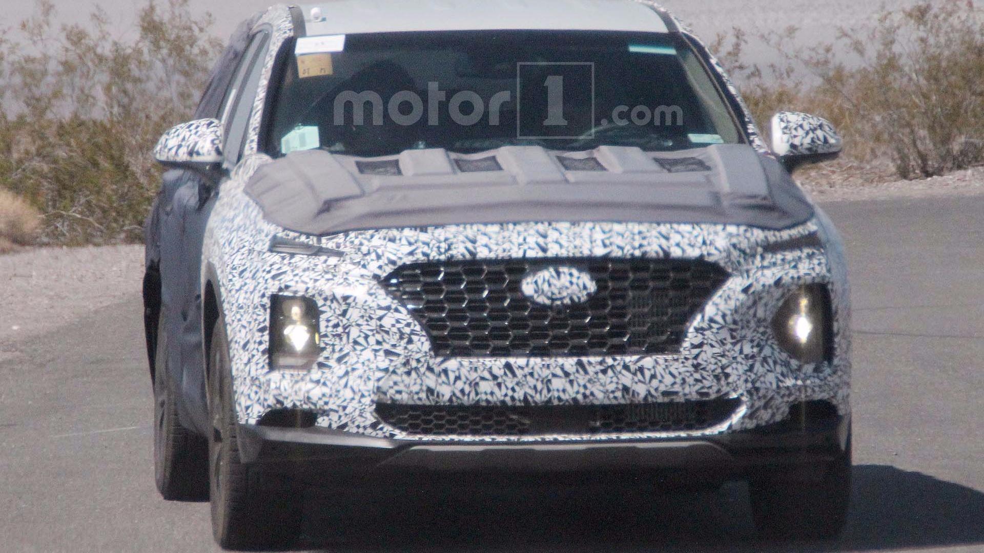Next Hyundai Santa Fe Spied Revealing Kona Like Face