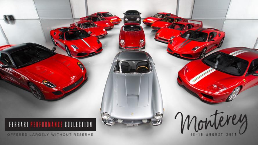 18 milyon dolarlık Ferrari koleksiyonu açık arttırma yolunda