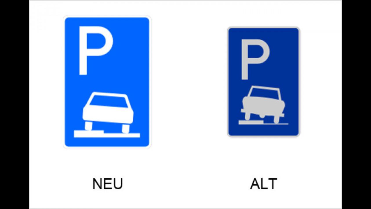 Parken halb auf Gehwegen in Fahrtrichtung links