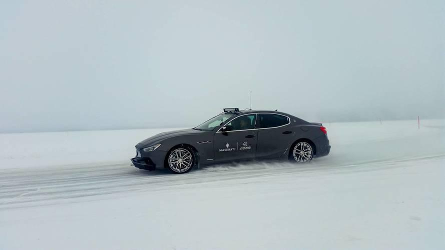 Maserati GrandTurismo et Ghibli au Laponie Ice Driving