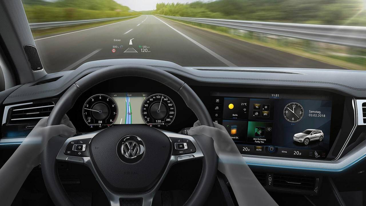 2019 VW Touareg - Head-up display