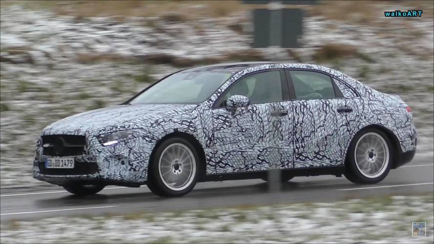 New Mercedes A-Class Sedan, Hatchback And CLA Caught In Motion
