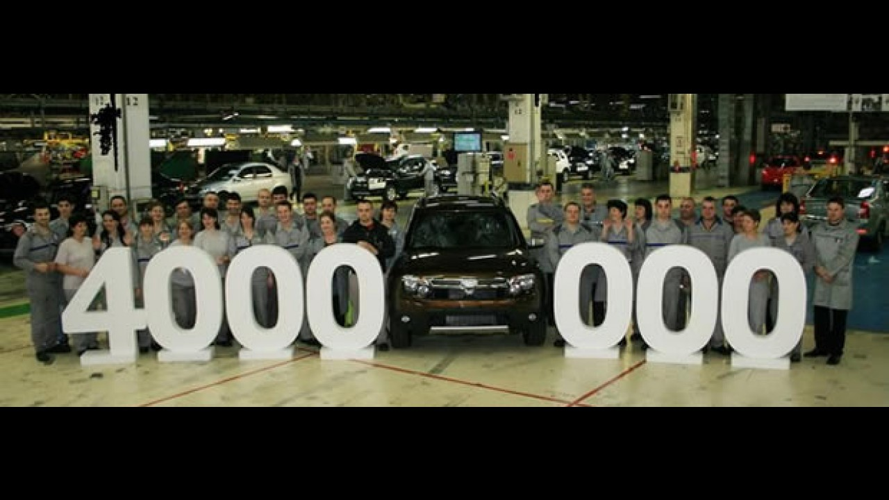 Dacia atinge 4 milhões de unidades produzidas