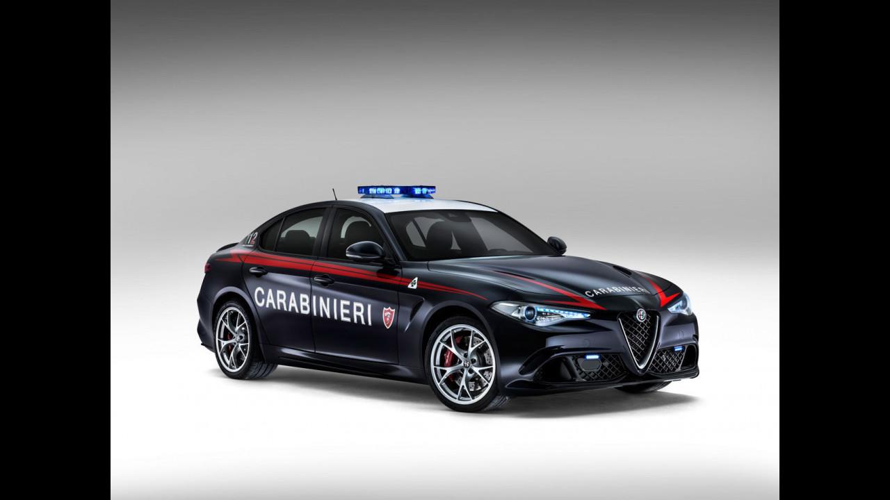 Alfa Giulia e tutte le altre supercar della polizia