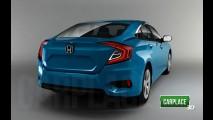 Honda Civic 2016 terá as maiores mudanças em 43 anos de história