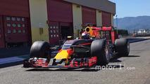 Sébastien Buemi, Red Bull Racing testing the new 2017 Pirelli tires