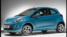 Novo mesmo: Ford divulga primeira foto oficial do Novo Ford Ka Europeu