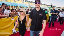 Kurt Busch, Furniture Row Racing Chevrolet with girlfriend Patricia Driscoll