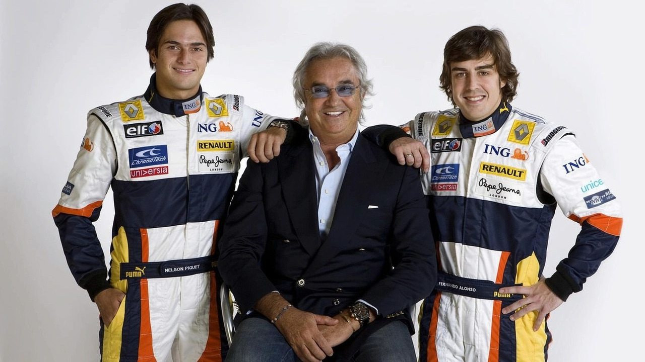 Nelson Piquet, Flavio Briatore, Fernando Alonso