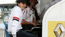 Robert Kubica (POL) on the Renault F1 Team gantry, 02.12.2009 Jerez, Spain,