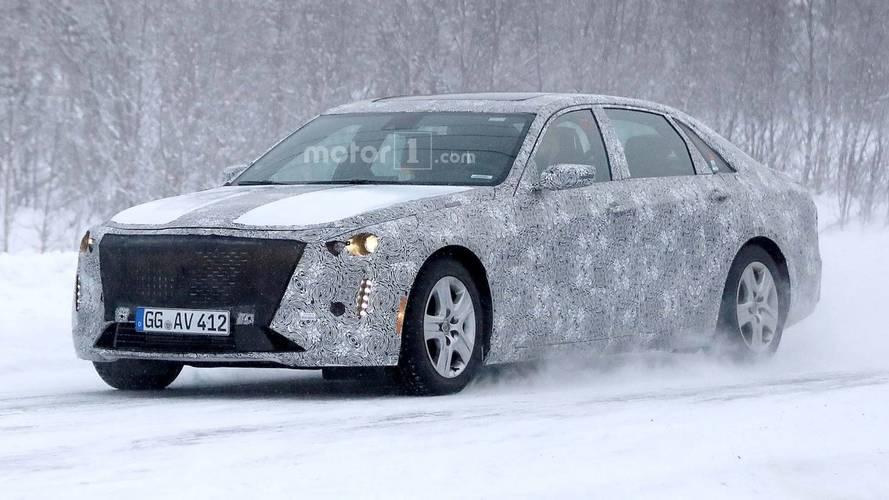 2019 Cadillac CT6 Sedan Facelift Spied Speeding In Snow