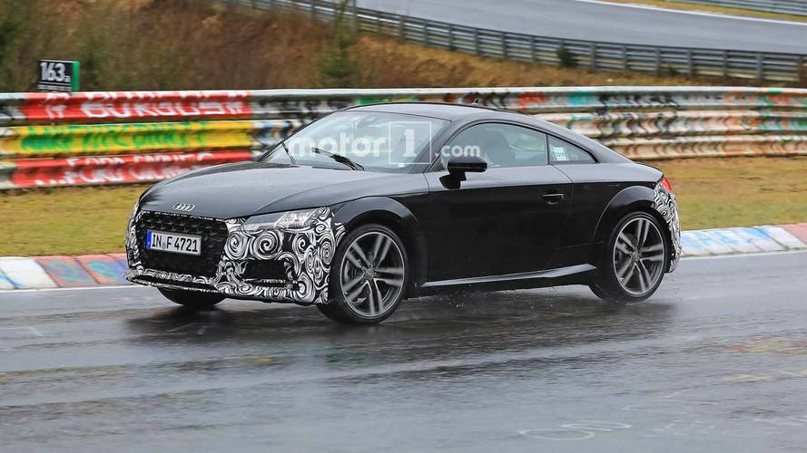 Refreshed Audi TT Spied Running Around Wet Nürburgring