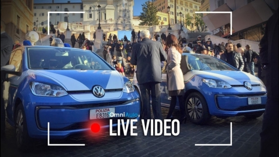 Volkswagen e-up! alla Polizia di Stato [VIDEO]