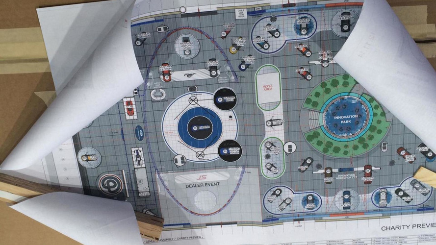 Ford's NAIAS stage map hints at a new GT, Shelby Mustang GT350R & F-150 SVT Raptor