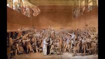 Jacques-Louis David - Il giuramento della Pallacorda, 1791, Versailles