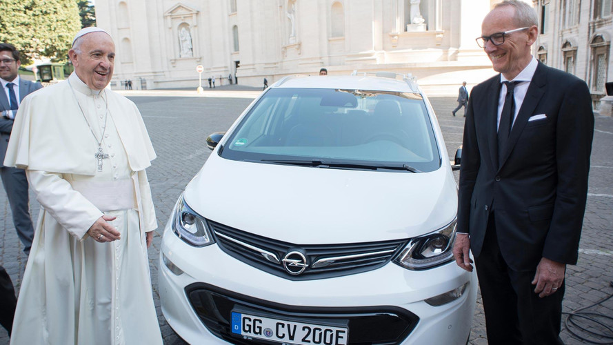 Latest Popemobile Is An Opel Ampera-e