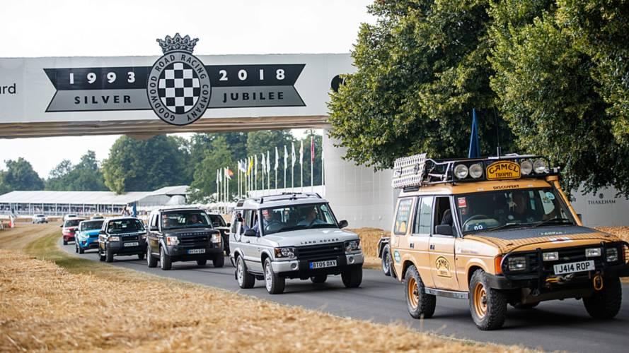 Land Rover Goodwood'da 70'inci yılını böyle kutladı