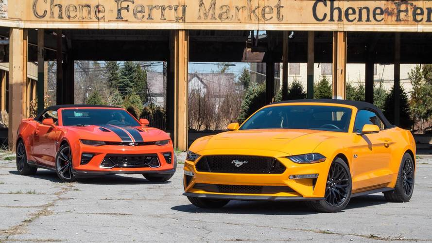 Chevy Camaro SS Vs. Ford Mustang GT: Top-Down Tussle